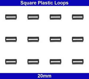 Square Plastic Loops - 20mm - Belt Collar Bag