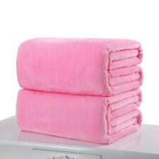 2add59eb54f8 Super Soft Warm Solid Warm Micro Plush Fleece Blanket Throw Rug Sofa Bedding  1Pc