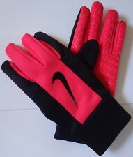 Nike Men's Thermal Grip Training Gloves Black/Fusion Red Size Medium - New