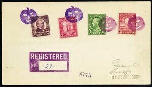 Jack O Lantern In Purple & Violet Fancy Cancel Registered Cover - Stuart Katz