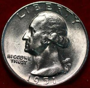 Uncirculated 1951-D Denver Mint Silver Washington Quarter