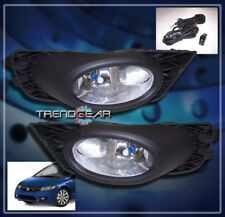 2009 2010 2011 HONDA CIVIC SEDAN 4DR BUMPER CHROME FOG LIGHT+BULB+SWITCH+HARNESS