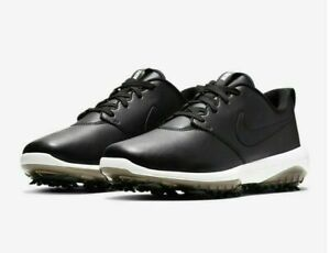Nike Roshe G Tour Golf Shoes Spikes Black White AR5580-001 Cleats Men's Leather
