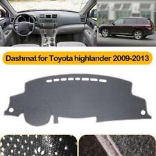 for TOYOTA Highlander 2009-2013 Gray Dashmat Dashboard Cover Sun Shelter Protect