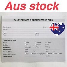 100 x Hairdressing Beauty Salon Service & Client Record Card