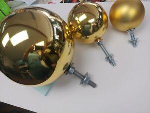 Flagpole Ball - Flagpole Ball Top - Pole Ball Topper - Ball Ornament 5 thru10 in