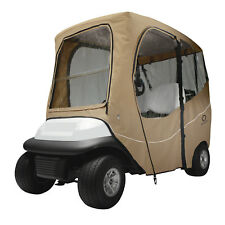 Classic Accessories Fairway Golf Cart Deluxe Enclosure Short Roof - Khaki