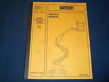 SIMON SILVER EAGLE 32/21 41/24 MANLIFT PLATFORM TRUCK SERVICE SHOP REPAIR MANUAL