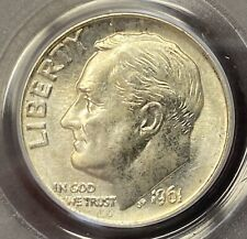 1961 Roosevelt 10¢ PCGS MS65 lightly toned