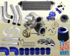Mazda Miata Mx-5 1.6L T3/T4 Turbocharger Turbo Kit Blue+Manifold+Bov+Wg+Gauge