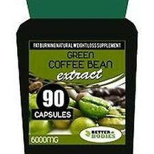 6000mg GREEN COFFEE BEAN EXTRACT CAPSULES DIET WEIGHT LOSS SLIMMING PILLS 90