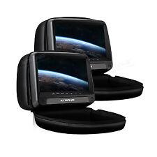 2x 9 Zoll Auto Kopfstütze HD TFT Monitor DVD Player mit HDMI USB SD Port FM/IR