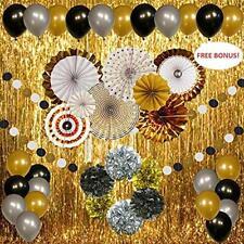 2020 Graduation Decorations Party Supplies Gold Silver Black Balloons Garland