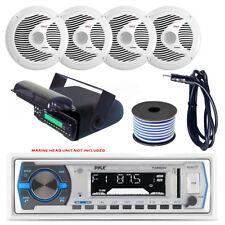 Pyle PLMRB29W MP3 USB SD Bluetooth In-Dash Radio Receiver Bundle Combo With W...