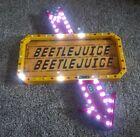 Beetlejuice Light Up Sign Decoration Spirit Halloween BRAND NEW
