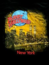 Planet Hollywood New York Black City Tee Shirt Size L Twin Towers 2000 New Neu