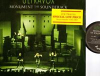ULTRAVOX monument the soundtrack (live) LP EX/VG CUX 1452 new wave synth pop