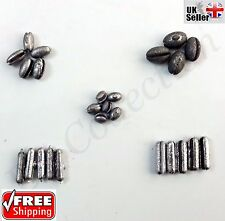 25X Assorted Split Shot 5 Way Compartment Dispenser Fishing Weights Lead Sinkers