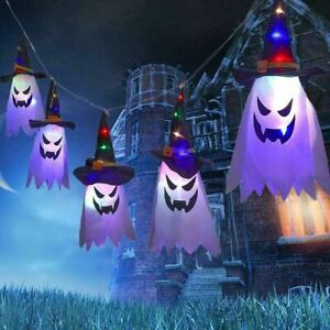 Halloween LED Flashing Light Gypsophila Ghost Festival Hanging Lantern  Decor