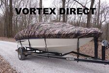 NEW VORTEX CAMO HEAVY DUTY FISHING/SKI/RUNABOUT/BOAT COVER 24-26' FT