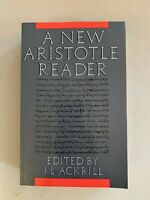 A New Aristotle Reader by Aristotle (1988, Paperback)