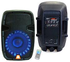 "Mr Dj Industries PBX-1559LB 8""2 way 1200watt Karaoke/PA/ Portable speaker BT"