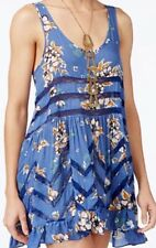 Free People Voile Floral Print Trapeze Slip/dress  L New