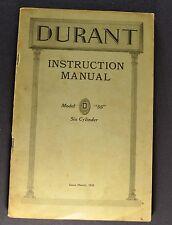 1928 Durant Model 55 Owner's Manual Instruction Manual Book Nice Original 28