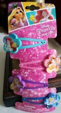Disney Princesses Colorful Metal Snap Hair Clips Pins Accessories - 4 PCS