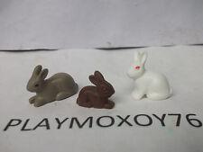 PLAYMOBIL ANIMALES. LOTE DE 3 CONEJITOS.