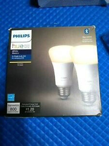 Philips Hue White 2-Pack A19 LED Smart Bulb, Bluetooth 476951