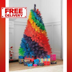 Multi Coloured 5FT Rainbow Fir Tree