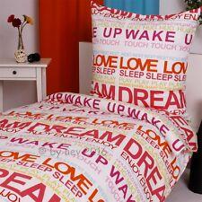 BETTWÄSCHE SET DREAM SLEEP WAKE UP BAUMWOLLE Garnitur 135x200 Bettbezug NEUWARE