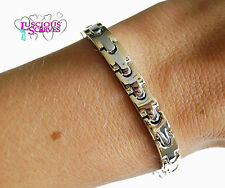 LADIES SUPER STRONG BIO MAGNETIC SILVER & GOLD ALLOY HEALING BRACELET