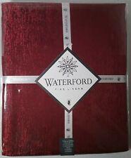 "WATERFORD Lunar 60"" X 104"" seats 8-10 Burgundy Red Holiday Christmas Metallic"