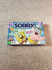 Spongebob Squarepants Sorry Game Hasbro Parker Bros Nickelodeon 2008 Complete