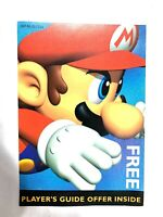 Super Mario 64 N64 Free Players Guide Offer Nintendo Power INSERT ONLY Authentic