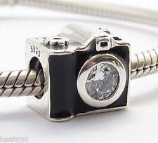 SNAPSHOTS CAMERA CHARM Bead Sterling Silver.925 For European Bracelet  803