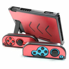 (Red) Aluminum Protective Case Cover Hard Shell Box For Nintendo Switch Console