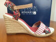 "Sperry: ""Saylor"" Wedge Sandal - Linen Liberty - Size 9.5, Eur 40.5, UK 7"