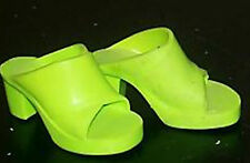 """TIFFANY TAYLOR LIME GREEN HIGH HEEL SHOES - fit CRISSY, Toni & other 16-19"""" doll"""