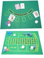 Verde Chiaro Panno Verde LAYOUT per roulette - ANCHE reversibile per Black Jack