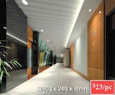 Summer Sale!! Grey Strip Gloss White PVC Wall-Ceiling Panel 2800x240x8mm-DIY