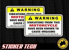 WARNING MOTORCYCLE STICKER DECAL SUITS BIKE ROAD KTM YAMAHA FMX FOX MONSTER DC