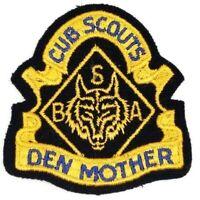 Vintage Den Mother Blue Felt Cub Scouts Patch Boy Scouts BSA