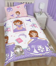 Disney Sofia the First Academy Single Rotary Duvet Cover Bed Set New Gift