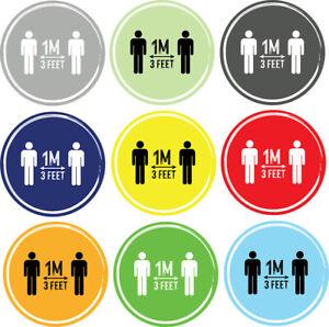 Social Distancing Floor Sticker/Decals - Anti Slip, Keep Apart Stickers