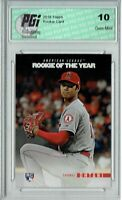 Shohei Ohtani 2018 Topps Rookie of the Year #ROTY1 SP Rookie Card PGI 10