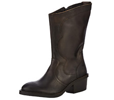 Fly London Women's Dune010fly Cowboy Boots Black Size UK 6