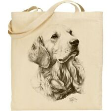 GOLDEN Retriever Cotone Shopping Tote Bag Mike Sibley stampa Riutilizzabile Durevole
